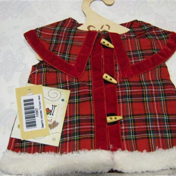 Cappotto My Doll scozzese finiture rosse